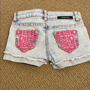 Toddler girls diesel shorts